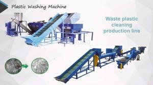 China Plastic Bottle PET Washing Line 300-2000kg/Hour Optional Color PLC Control on sale