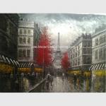 Paris Abstract Painting / Modern Art Oil Painting Eiffel Tower Paris Single Panel