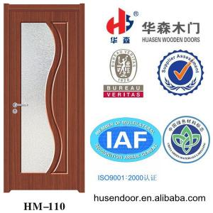 China latest design wooden doors frosted glass bathroom doors on sale