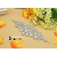 China Wedding Dress Rhinestone Beaded Applique on sale