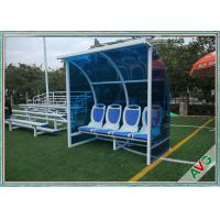 China Stadium Mobile Football Field Equipment Soccer Player Team Bench Seats With Shade on sale