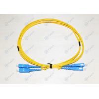 Low Toxicity LSZH SC To SC Single Mode Fiber Cable Duplex 9/125μM Polishing Type UPC