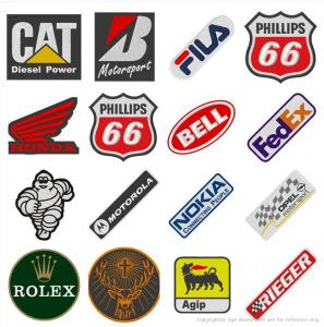 China Personalized Company Logo Embroidery Patch Woven For Clothing Iron On on sale