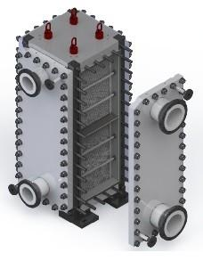 China S S Block Fully Welded Plate Heat Exchanger Customised Design on sale