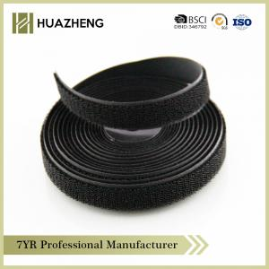 China Black Nylon Hook Loop Tape Roll Resusable High Temperature Resistant on sale
