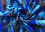 4 Way Stretch Polyester Spandex Printed Fabric Weft Knitted Fabric For  Sportswear