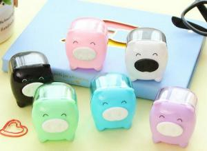 China Sweet color Mini Cute Cartoon Pig Pencil Sharpener For Student Kids Gifts School Stationery on sale
