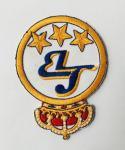 Kids custom design embroidery badge with hot melt adhesive back