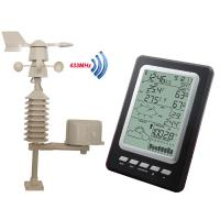 Professional Temperature Humidity Rain Pressure Wind Speed Wind Direction Wireless Weather Station Solar Powered MS1030