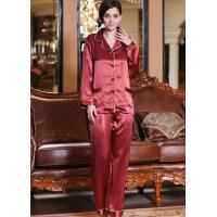 China pure silk pajamas on sale