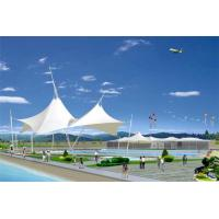China Sun Shelter Hotel Platform Steel Car Canopy Tents Membrane Structure Projects With PVDF Material Cover on sale