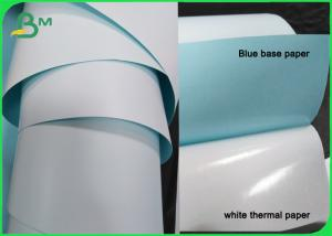 China Self Adhesive Thermal Paper Roll 4 X 3 Inches 55gsm Mailing Shipping Barcode on sale