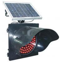 China Factory Price 300mm-400mm Solar Power Yellow Traffic Flashing Warning Signal Light on sale