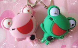 China 2012 lovely led animal light,sound frog keychain on sale