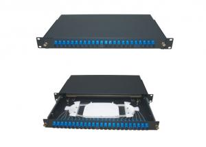 China ODF 24 Core Fiber Sliding Type Optical Fiber Termination Box  For Rack Mount on sale