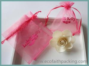 China Christmas organza gift bag/ wedding gift bag organza gift drawstring bag on sale