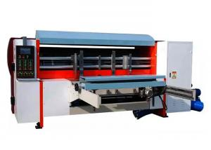 China NC Auto Corrugated Rotary Die Cutting Machine , Lead Edge Feeding Rotary Die Cutter on sale