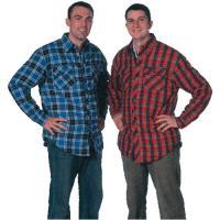 China Las camisas de tela escocesa para hombre de la moda por encargo separaron el cuello en azul/rojo on sale