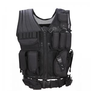 China Outdoor 600D Nylon Men Military Tactical Vest Paintball Camouflage Molle Hunting Vest Assault Shooting on sale
