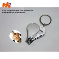 China Sublimation Nailnippers Personalized Metal Keychains With Name And Logo DIY Gift on sale