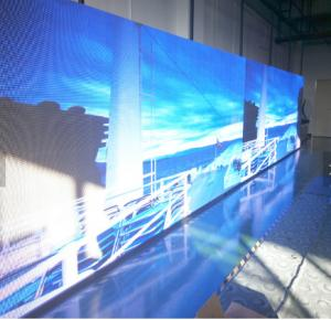 China LED video wall / soft curtain flexible transparent led display on sale
