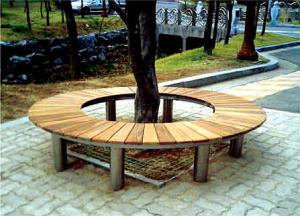 China Circular Outdoor Wooden Benches Rounded Tree for Gardens and Park HA-14705 on sale