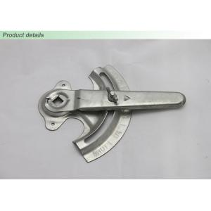 China Ductwork Custom Metal Stampings , Galvanized Steel HVAC Damper Actuator / Quadrant on sale