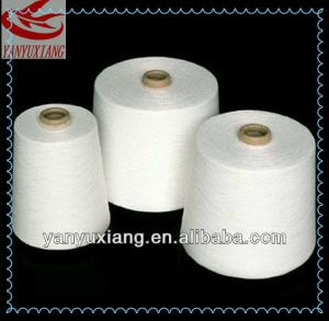 China high quality polyester spun virgin yarn 20s/1 for knitting on sale