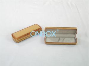 China Double Pen Presentation Box Packaging With Printed Wood Pattern on sale