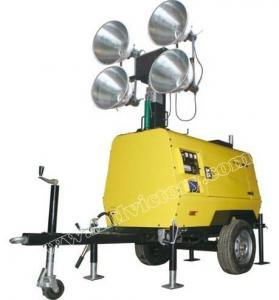 China Metal Halide Lamp Mobile lighting Towers with Water Cooling Engine on sale