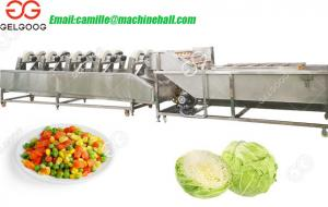 China Salad Process Machine Salad Cutting and Washing Processing Line on sale
