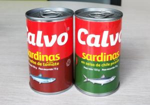 China Private Label Canned Sardine Fish , Sardines In Tomato Sauce Without Bones on sale