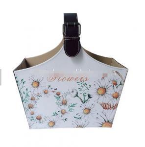 China Colorful Custom printed design decorative picnic fruit organizer Basket Bag Fashion Bucket Handbag Basket on sale