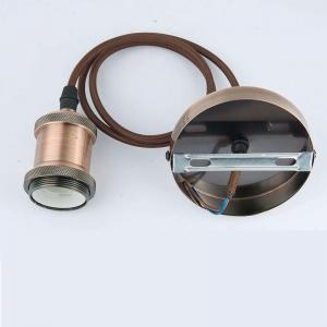 China E27 lampholder, Hanging Lamp Holder Socket Base, Hanging Fitting Decoration, fabric wire, 110-250V input voltage on sale
