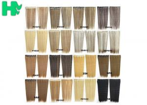 China Synthetic Blonde Hair Extensions Korean Straight Human Hair Weave on sale