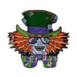Mad Hatter Hippie Weed Festival Lapel Enamel Pin