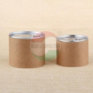 China Customised Size Aluminum Pull Tab Ring Kraft Paper Tube For Nuts Packaging on sale