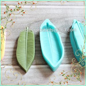 China Leaf Shape Baking Cake Mold Silicone , DIY New Cookie Soap Mould, 3D Silicone Rubber Cake Molds on sale
