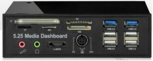 "Quality 5.25"" USB 2.0 & 3.0 internal card reader multi function Media Dashboard Front Panel (525D) for sale"