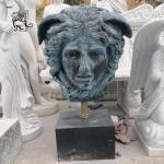 Medusa Bust Statue Bronze Ancient Greek Mythology Head Monster Sculture Home Decor