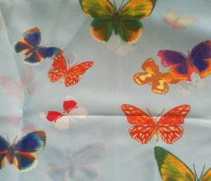 Quality Smooth Surface Printed Polyester Fabric , Fashionable 270T Printed Satin Fabric for sale