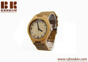 China Engraved Your Own Logo Luxury New Western Wooden Bamboo Handmade personized wooden watch on sale