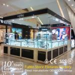 Perfect corner glass display cabinet/glass jewelry display cabinet