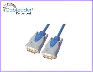 China Oxygen-free copper or tinned copper conductor DVI-D / DVI Monitor Cables DVI 18+1 male on sale