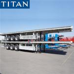 45ft flattop traiers 60 tons 43 foot flat bed double axle trailer