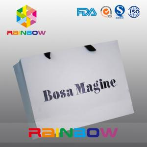 China Eco - friendly Customized Paper Bags With Handle For Apparel Packaging on sale