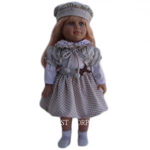 China Frida  long hair girl doll for 18 inch vinyl doll on sale