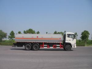China 31 Ton Dongfeng 6x4 Carbon Steel Oil Tank Truck For Fuel Delivery Transportation on sale