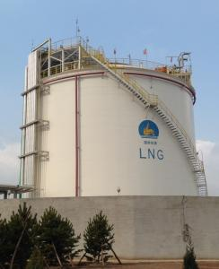 China Cryogenic LNG Storage Tanks Single Containment Natural Gas Liquefaction Plant on sale