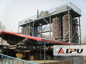 China High Recovery Ore Dressing Plant Spiral Chute Gravity Separator on sale